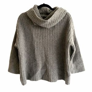 ANN TAYLOR Wool Oversized Cropped Cowl Sweater